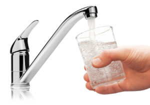 drinking water from tap