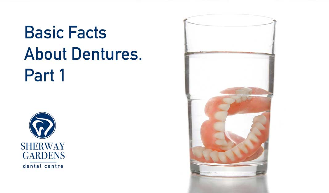 dentures in glass of water